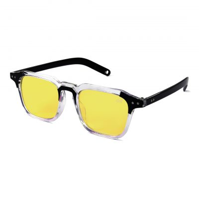yellow square sunglass for man