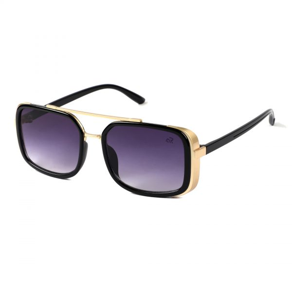 violet rectangle sunglass for man