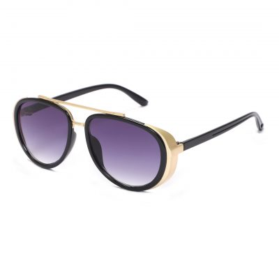 violet oval sunglass for man