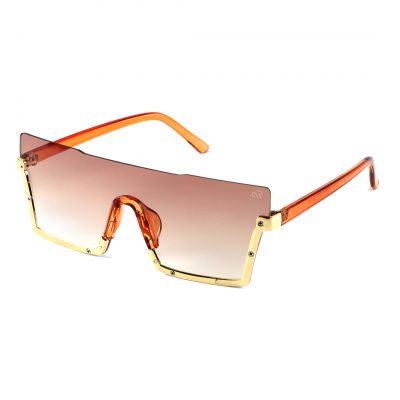 brown square sunglass for men