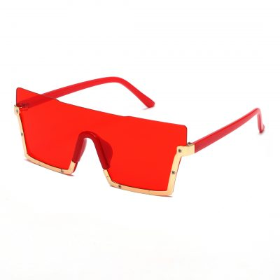 Red square sunglass for men