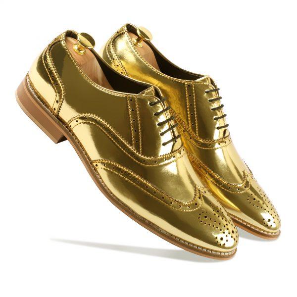 Golden Formal Shoes for Men