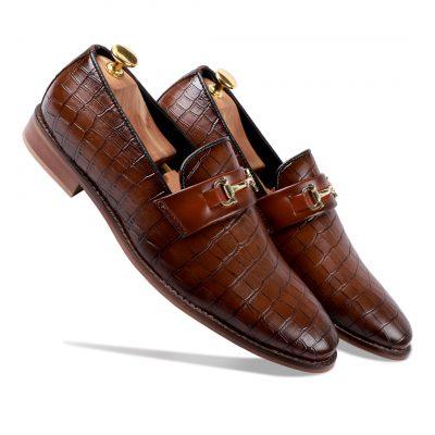 Brown formal shoes for men
