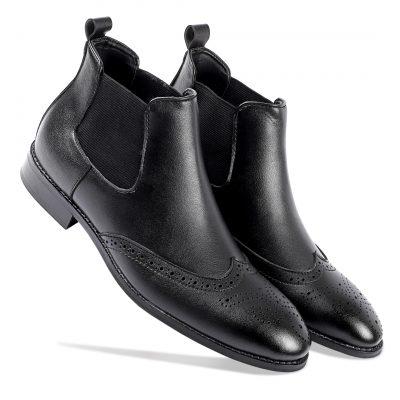 Black boots for men