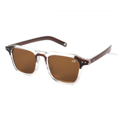 brown square sunglass for man