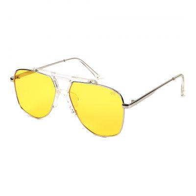 yellow aviator sunglass for man