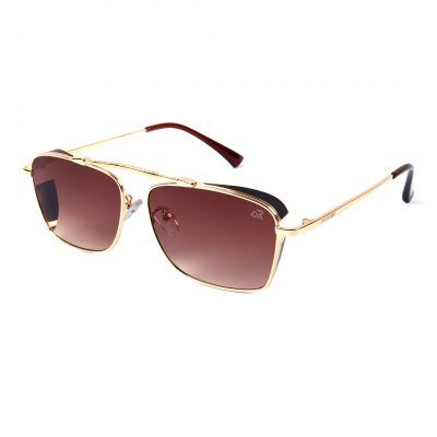 shadded brown rectangle sunglass for man