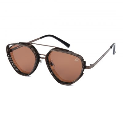 brown triangle sunglass for man