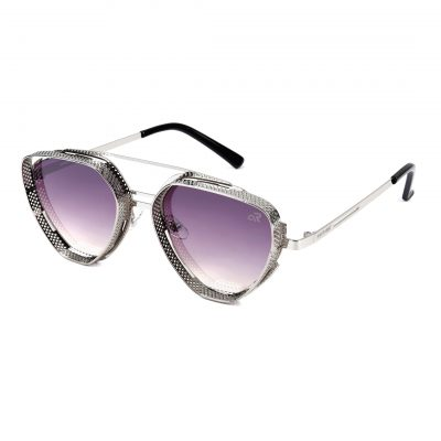 shadded violet triangle sunglass for man