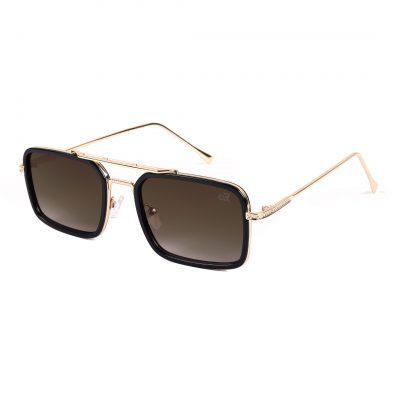 light brown rectangle sunglass for man