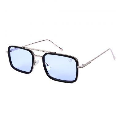 trans aqua square sunglass for man