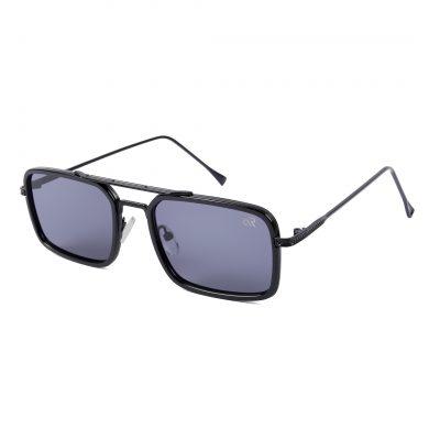 Black rectangle sunglass for man