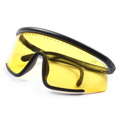yellow wrap around sunglass for man