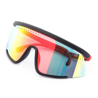 multi color wrap around sunglass for man