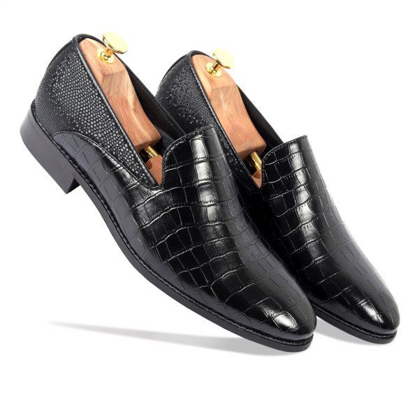 Shiny Black Loafer shoes