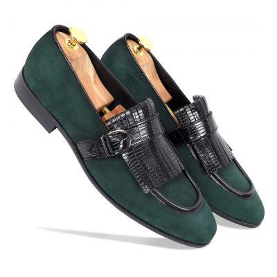 gREEN Black Loafer shoes