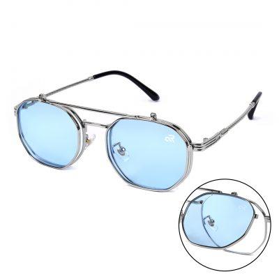 blue octagon sunglass for men