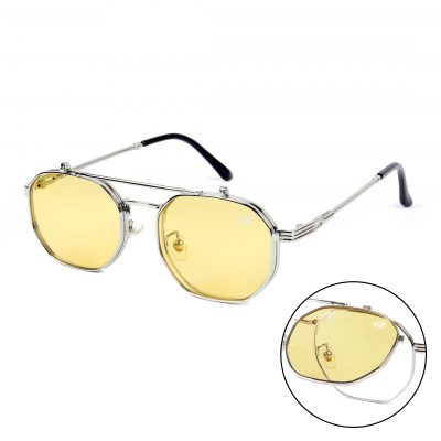 yellow octagon sunglass for man