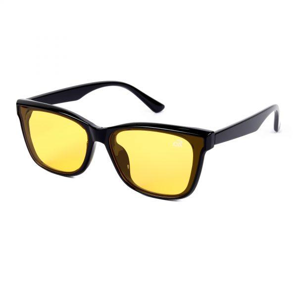 yellow rectangle sunglass for man